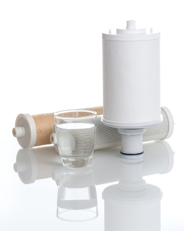 small water filter for campervan plumbing system