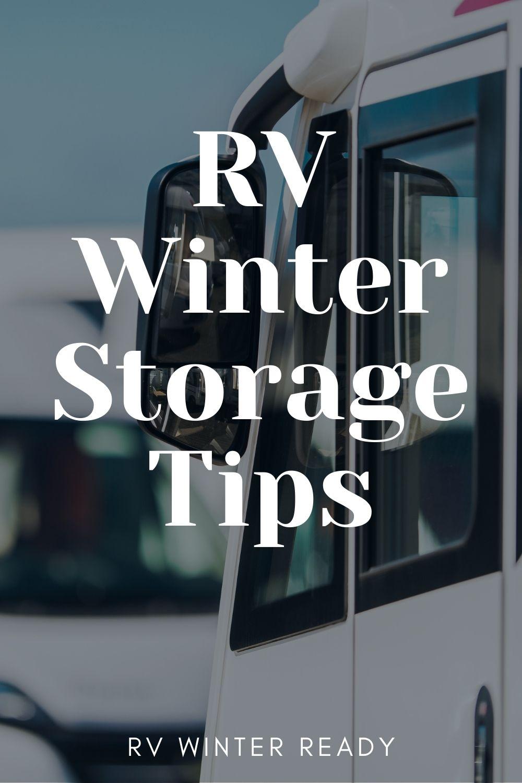 rv winter storage tips on pinterest