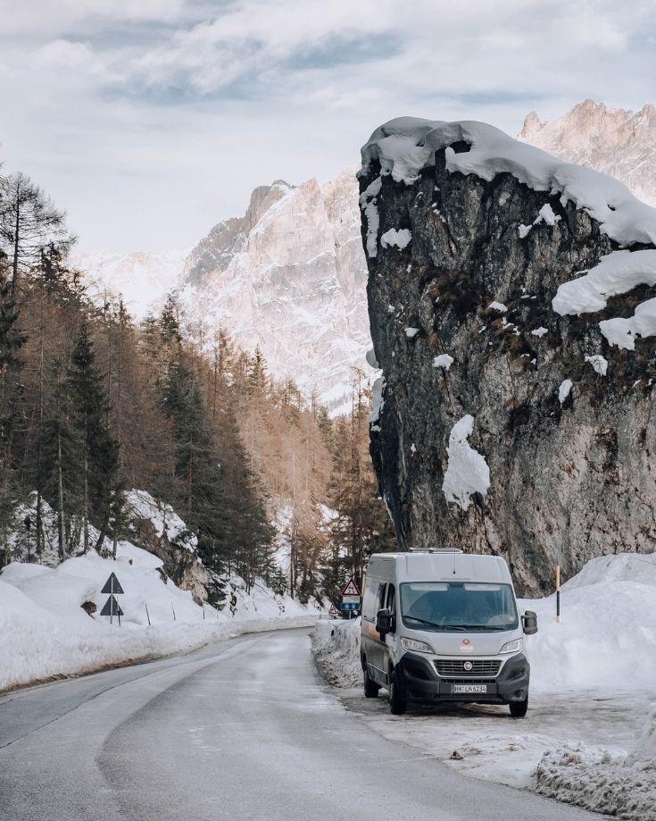 winter driving an RV