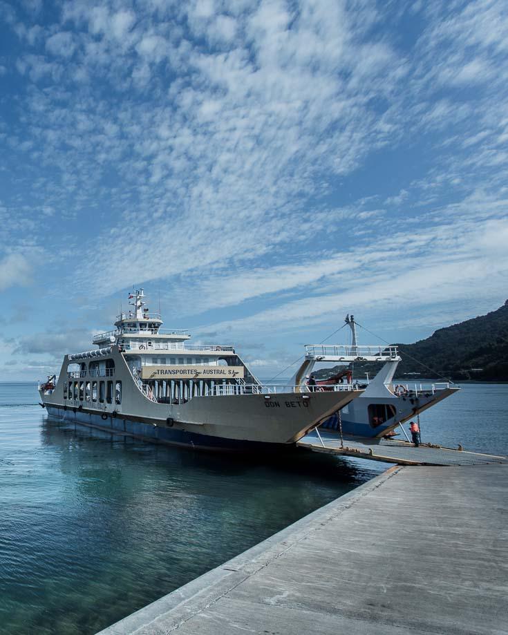 on eof the 3 ferries needed to reach futaleufu