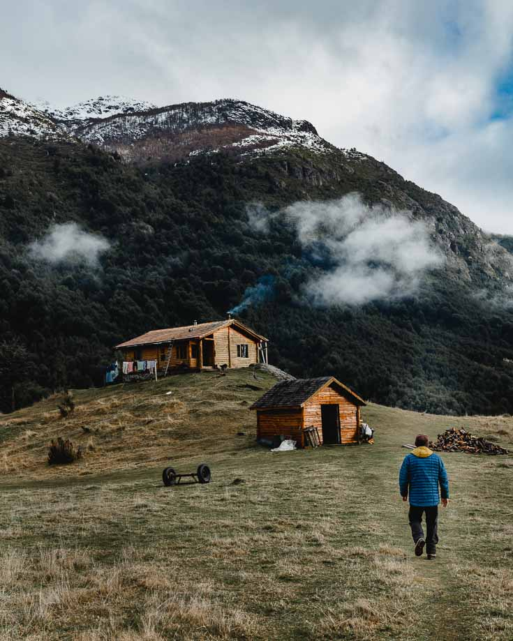 exploring the rural side of Patagonia in the countryside around futaleufu