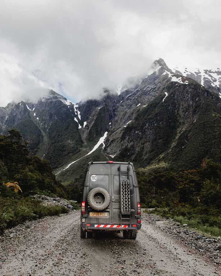 Wet ripio tracks in Patagonia