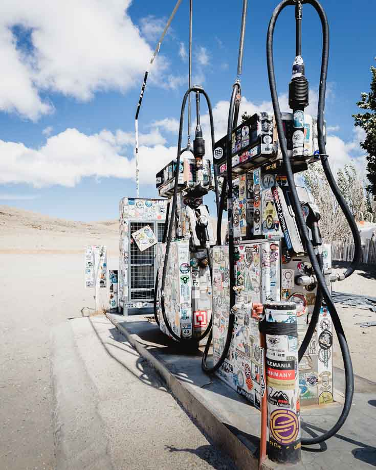 a remote fuel station in patagonia