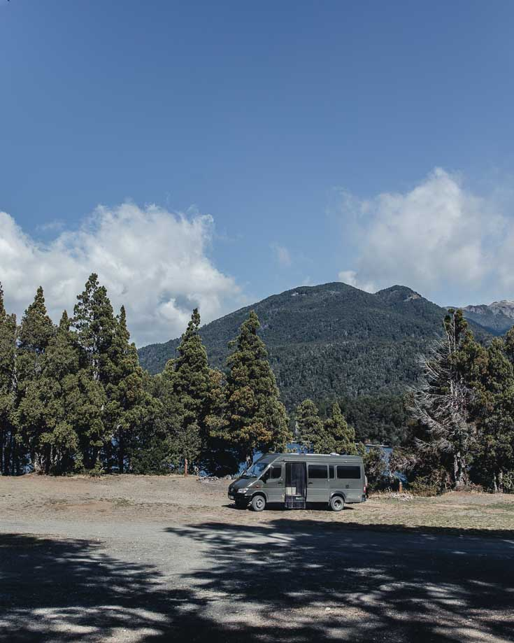 a campervan wild camping in Argentina