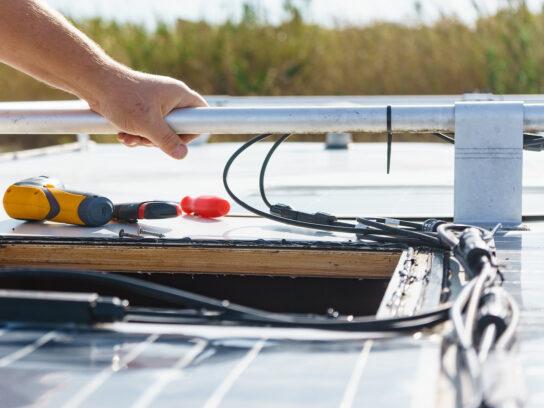 Repairing the RV roof