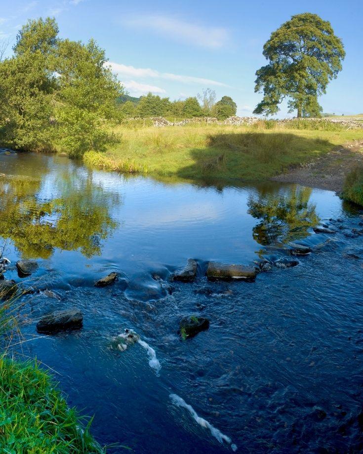 The River Dove in The Peak District