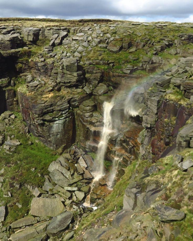 Kinder Downfall Peak District Waterfall