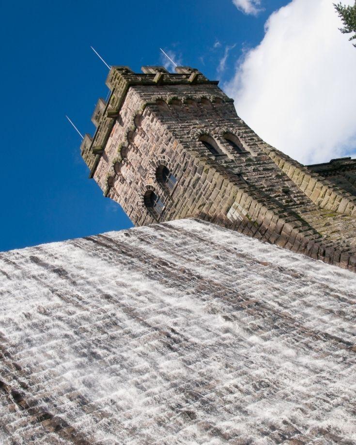 The Dam wall of Derwent Reservoir, Derbyshire