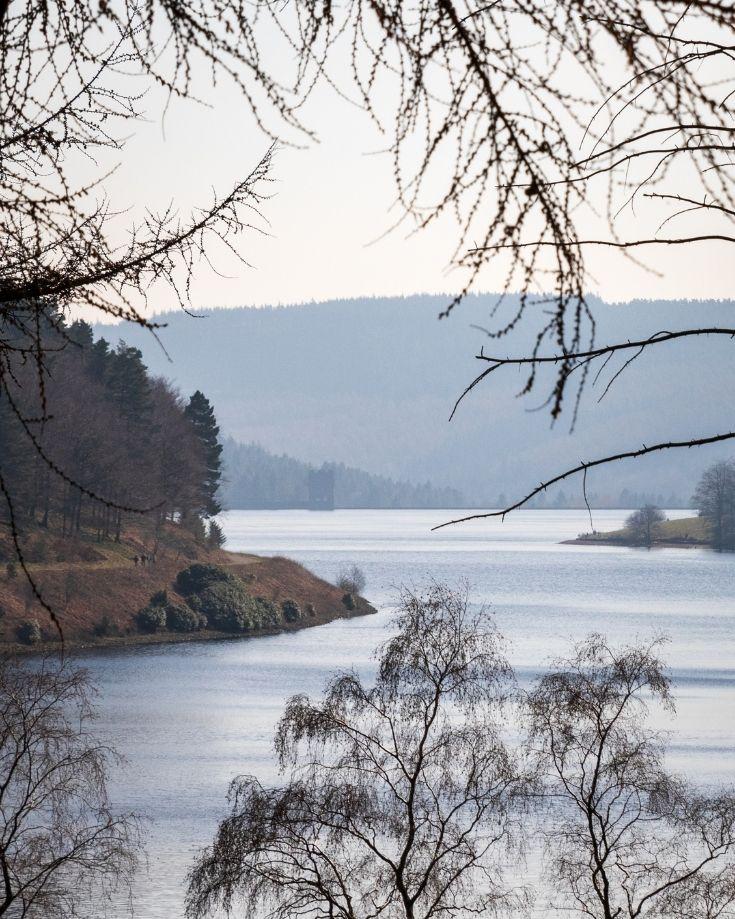 Views over Derwent Reservoir in the Peak District