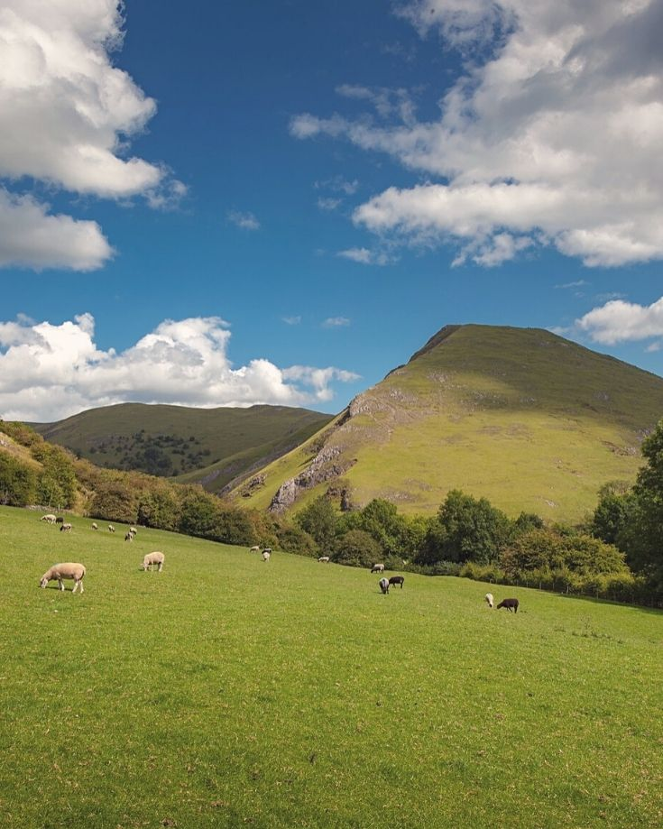 Views of Thorpe Cloud from Dovedale Walking route