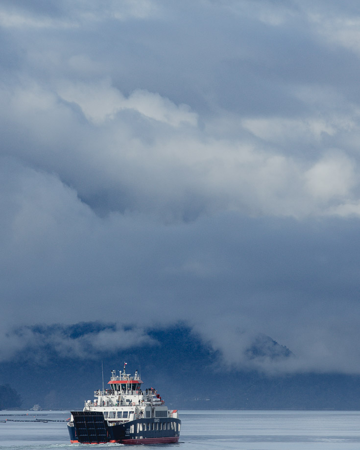 ferry on the carretera austral