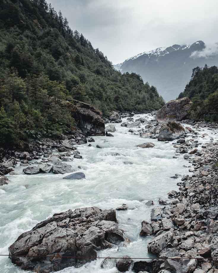 River Ventisqueros near the Hanging Glacier, Chile