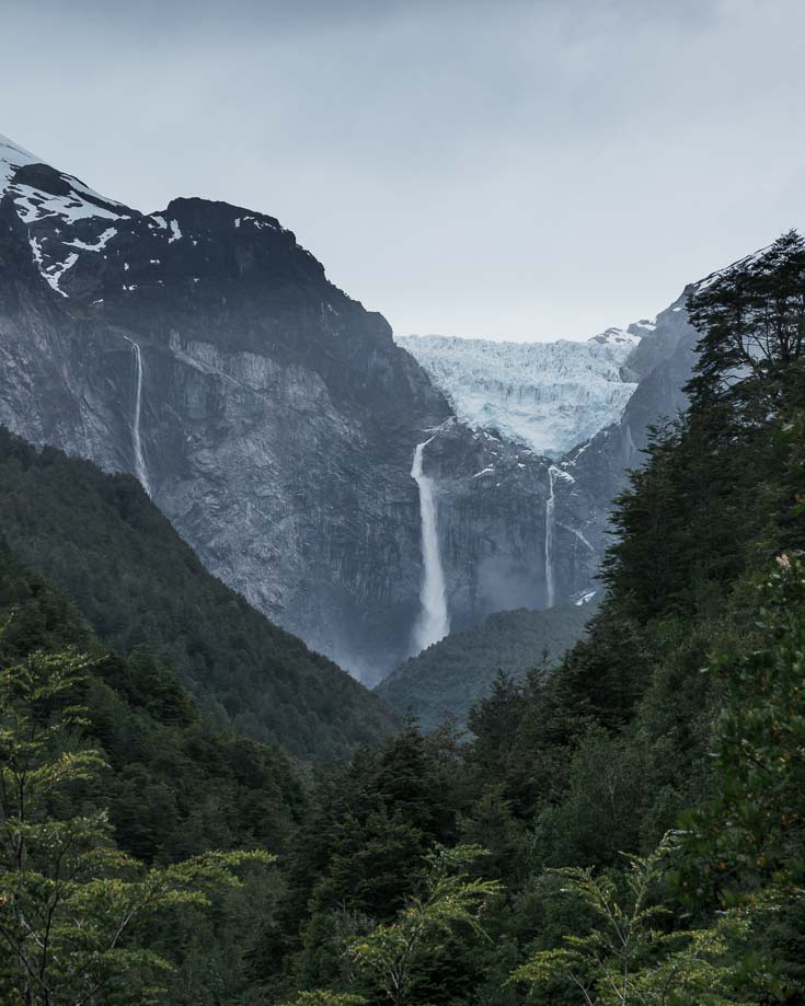 View of the Hanging Glacier in Chile