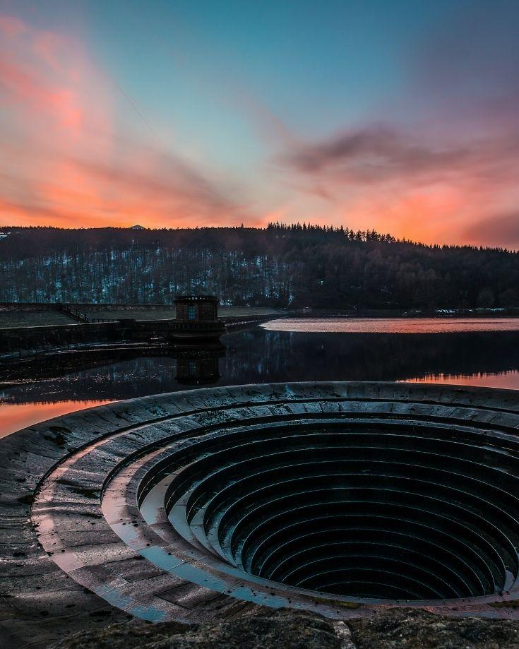 sunset over Ladybower Reservoir, Peak District