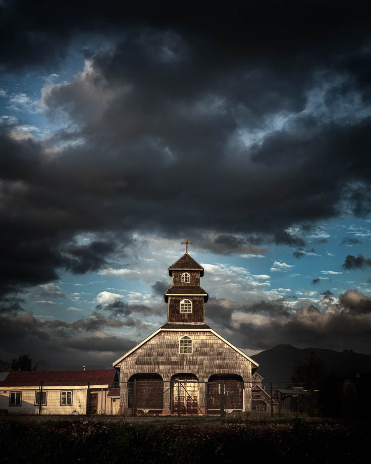 wooden churches near hornopiren