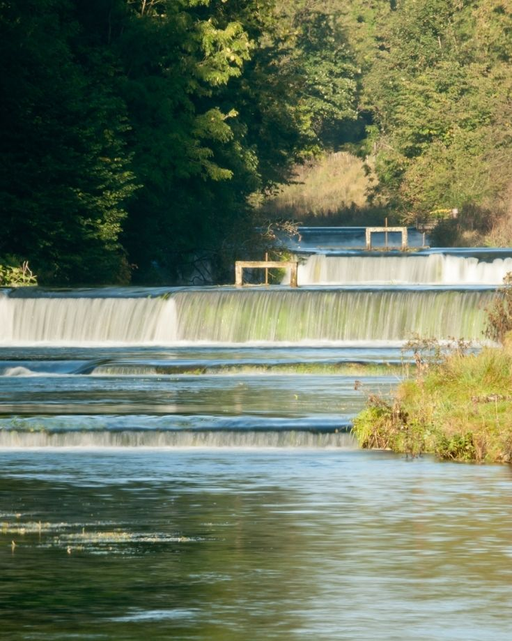 Weirs on the River Lathkill in White Peaks area