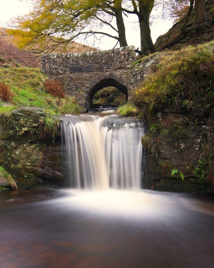Waterfalls at Three Shires Head Peak District