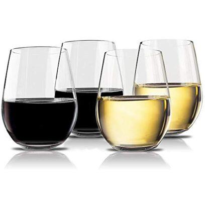 Unbreakable Plastic Stemless Wine Glasses