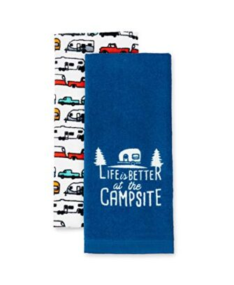 Life is Better at The Campsite RV Dish Towel Set
