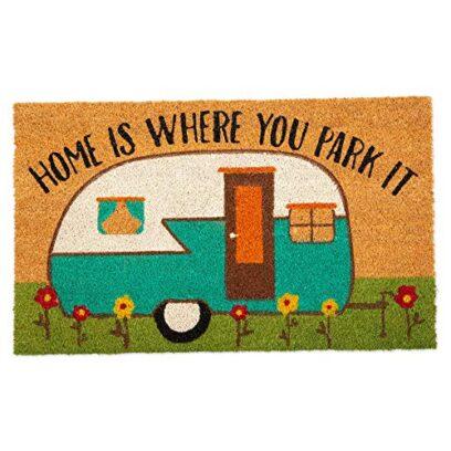 Home is Where We Park Decorative Doormat